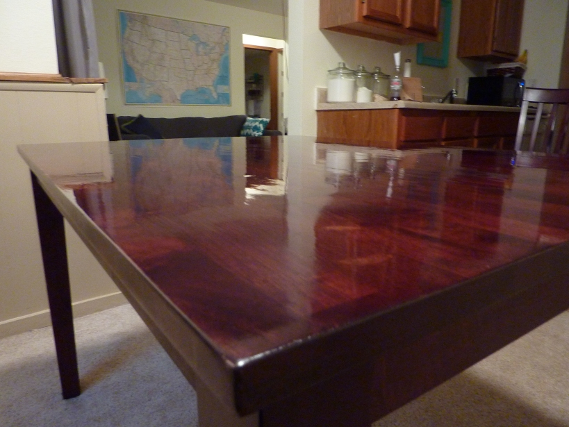 refinishing a dining room table