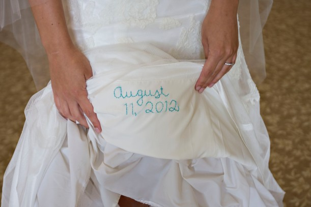 August 11, 2012 Wedding Dress Embroidery