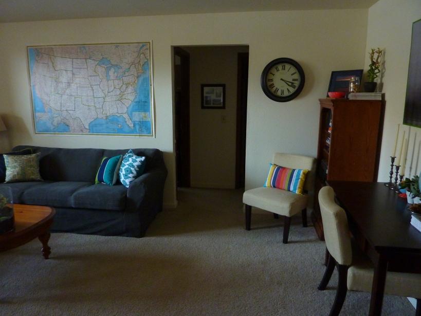 living room unframed map