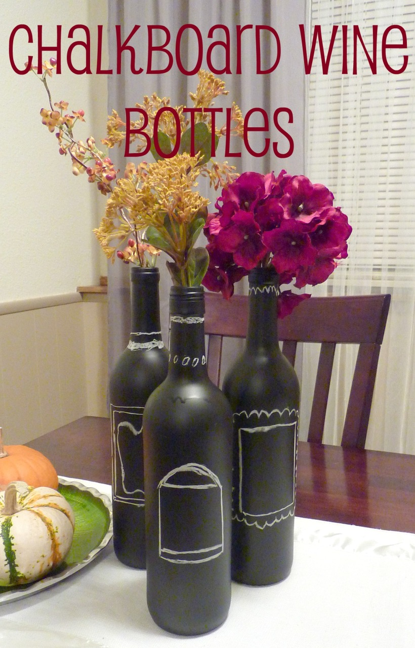 chalkboard wine bottles