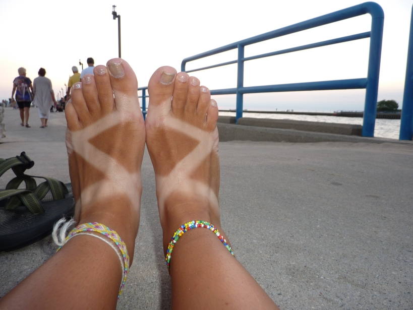 rocking the chaco tan in Grand Haven MI