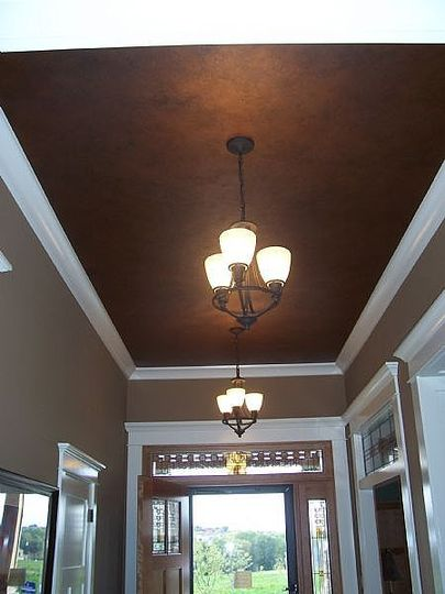 go to an interesting article with other dark painted ceiling examples