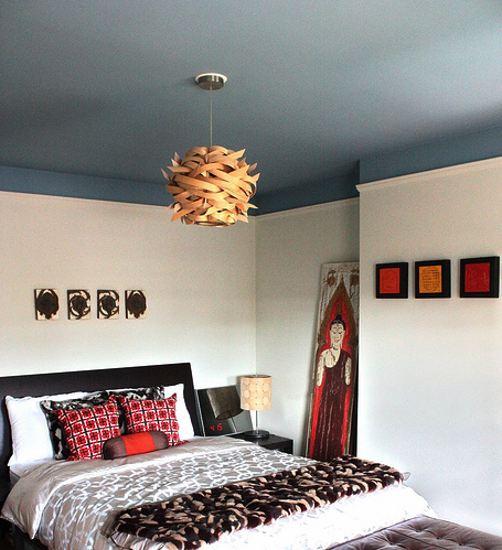 Master Bedroom Makeover Dark Painted Ceiling In Which I