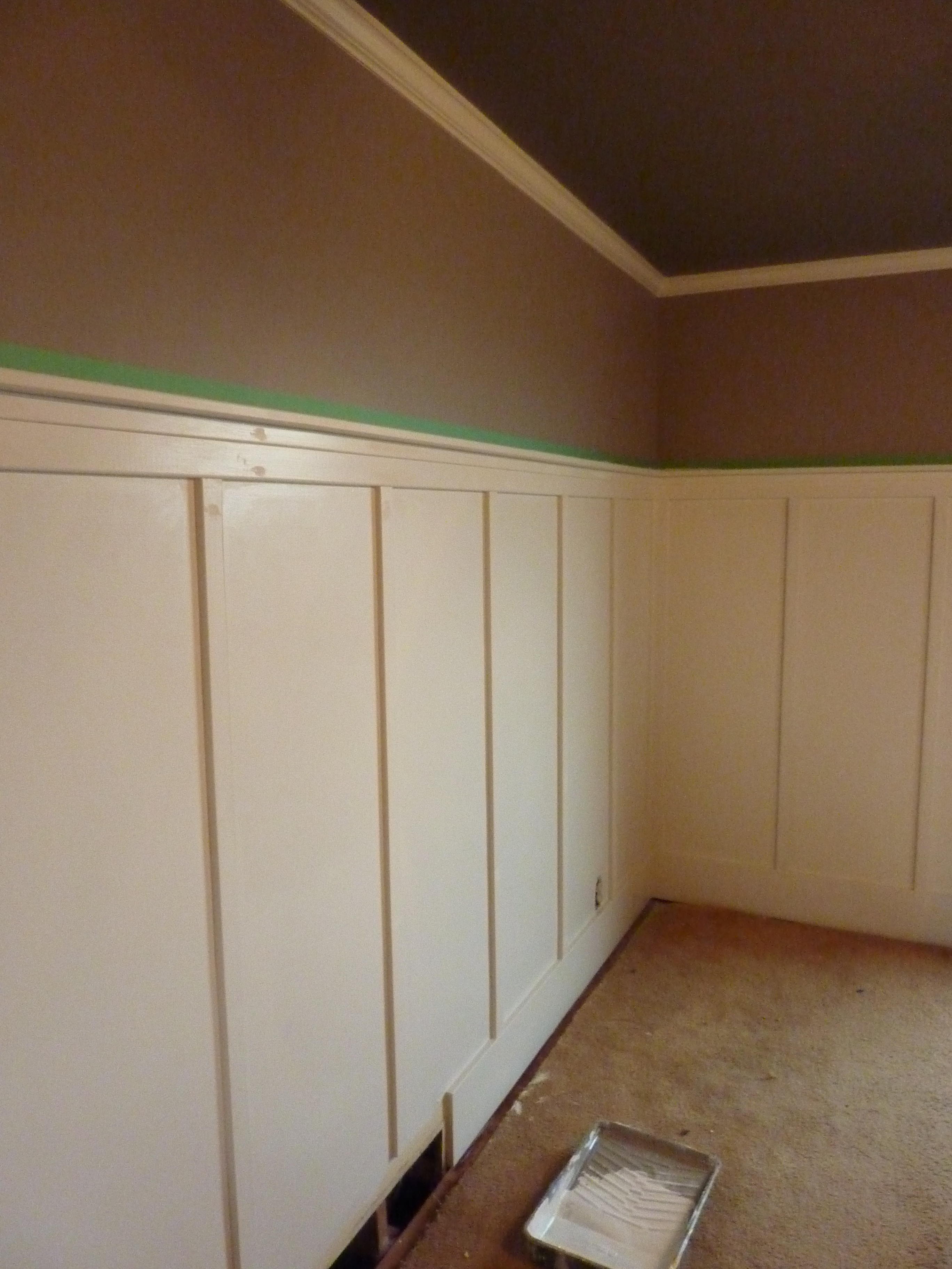 painted board and batten