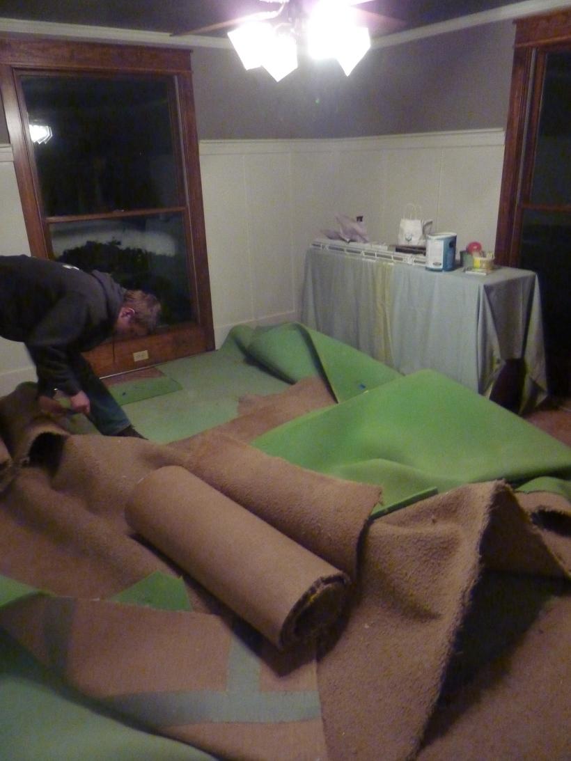 piles of carpet carnage