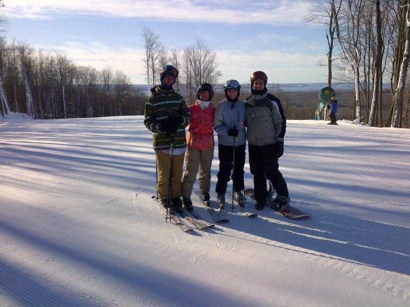 skiing at Nub's Nob