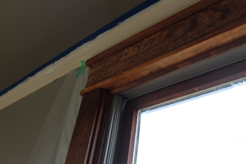 craftsman-style wood trim with crown molding