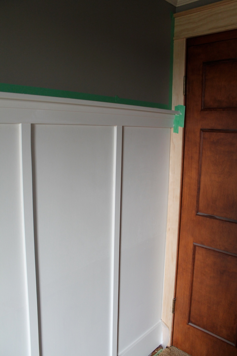 craftsman-style wood trim with board and batten