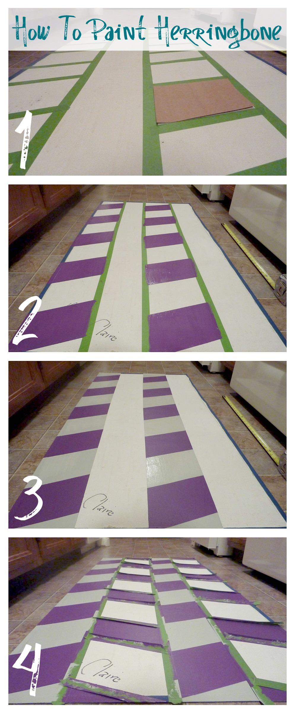 How to Paint a Herringbone Pattern