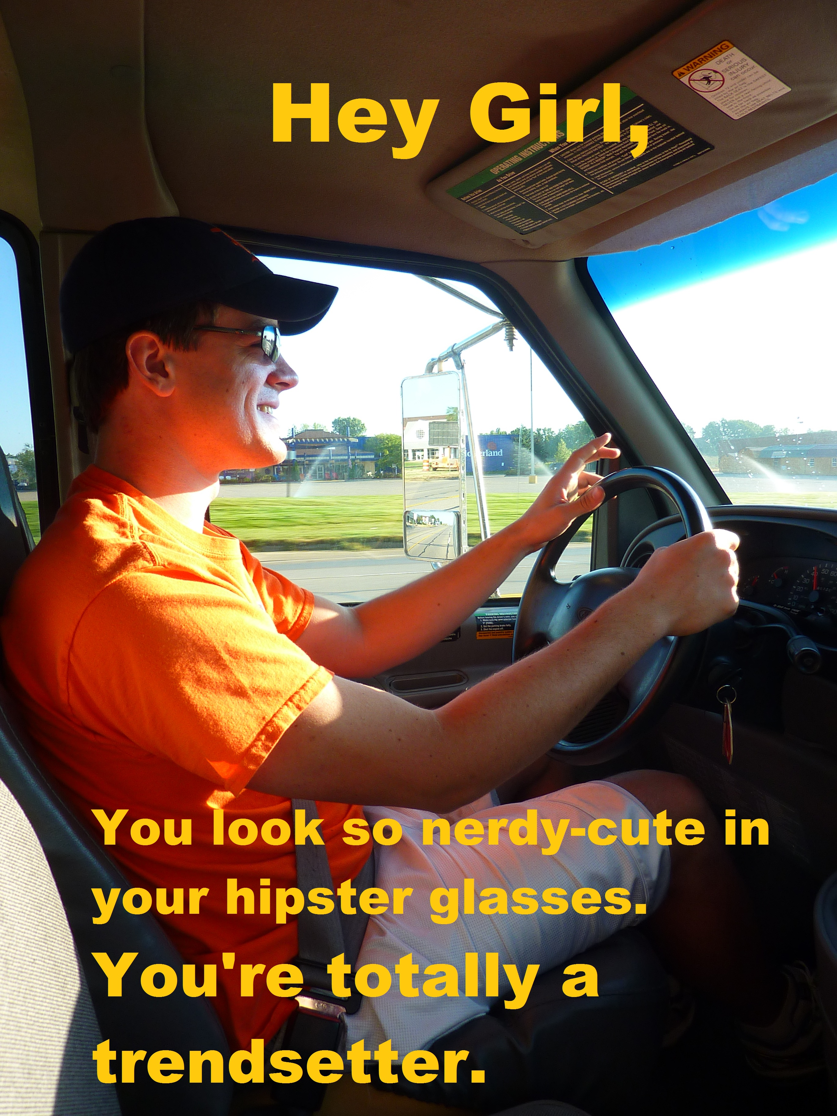 Hey Girl Hipster Glasses