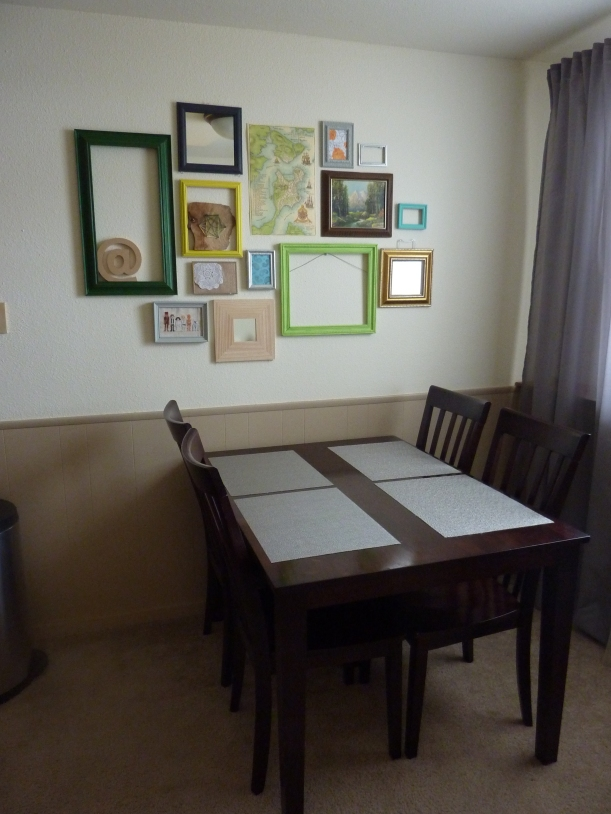 dining room gallery wall for a grown up