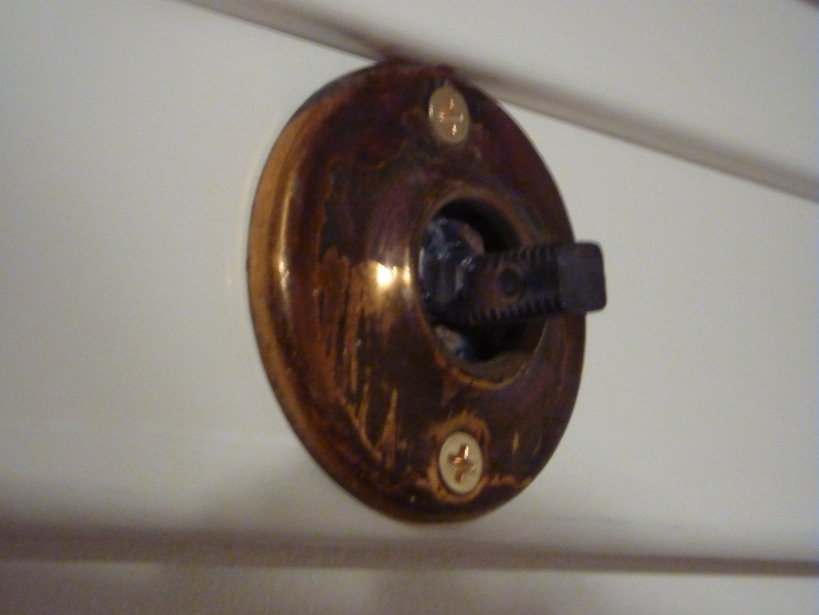 how to screw a doorknob hook into board and batten