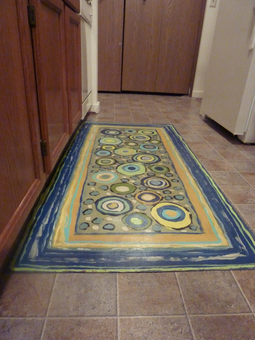 Handpainted Canvas Kitchen Rug