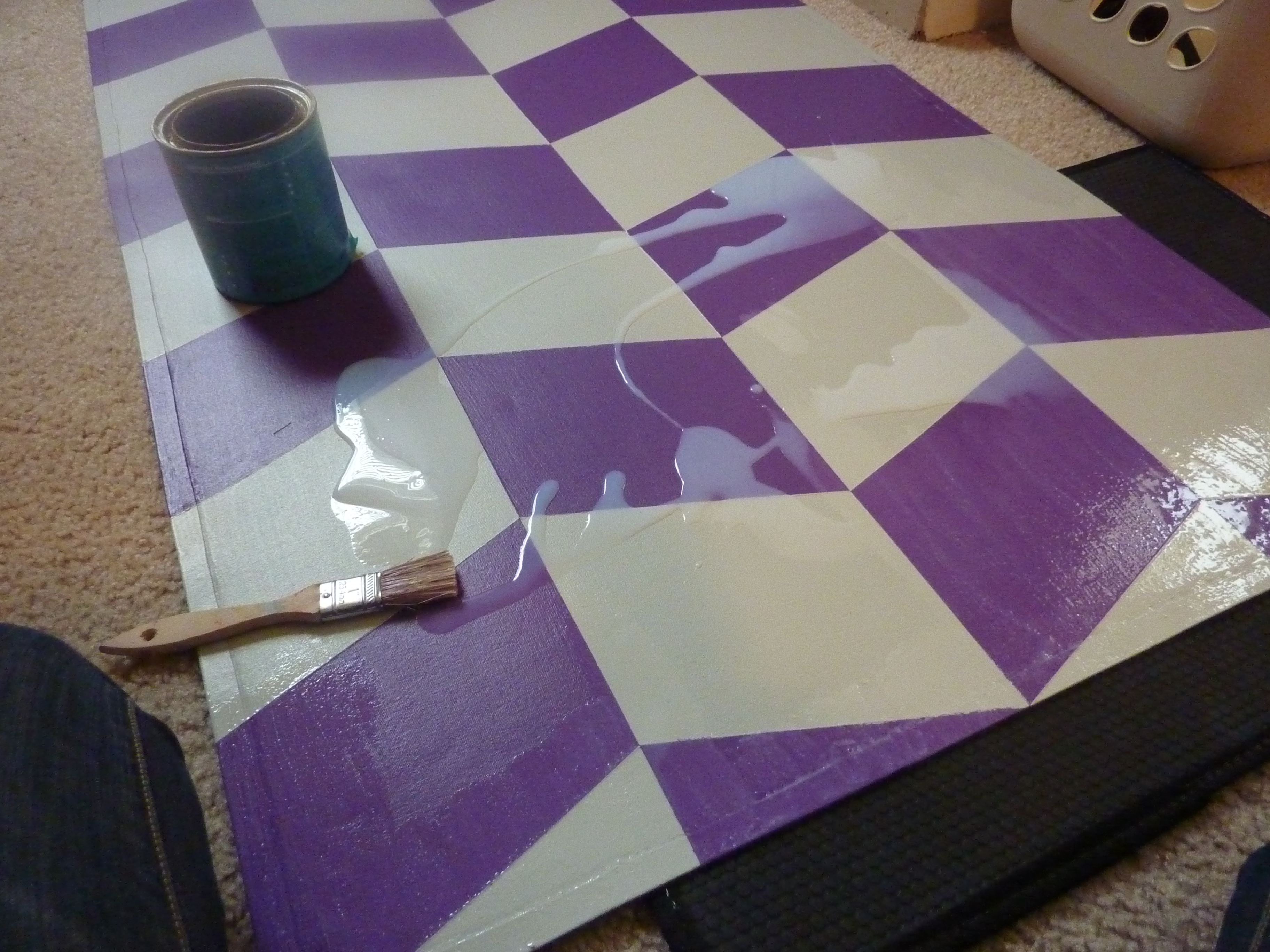 Seal a Painted Rug with Polycrylic