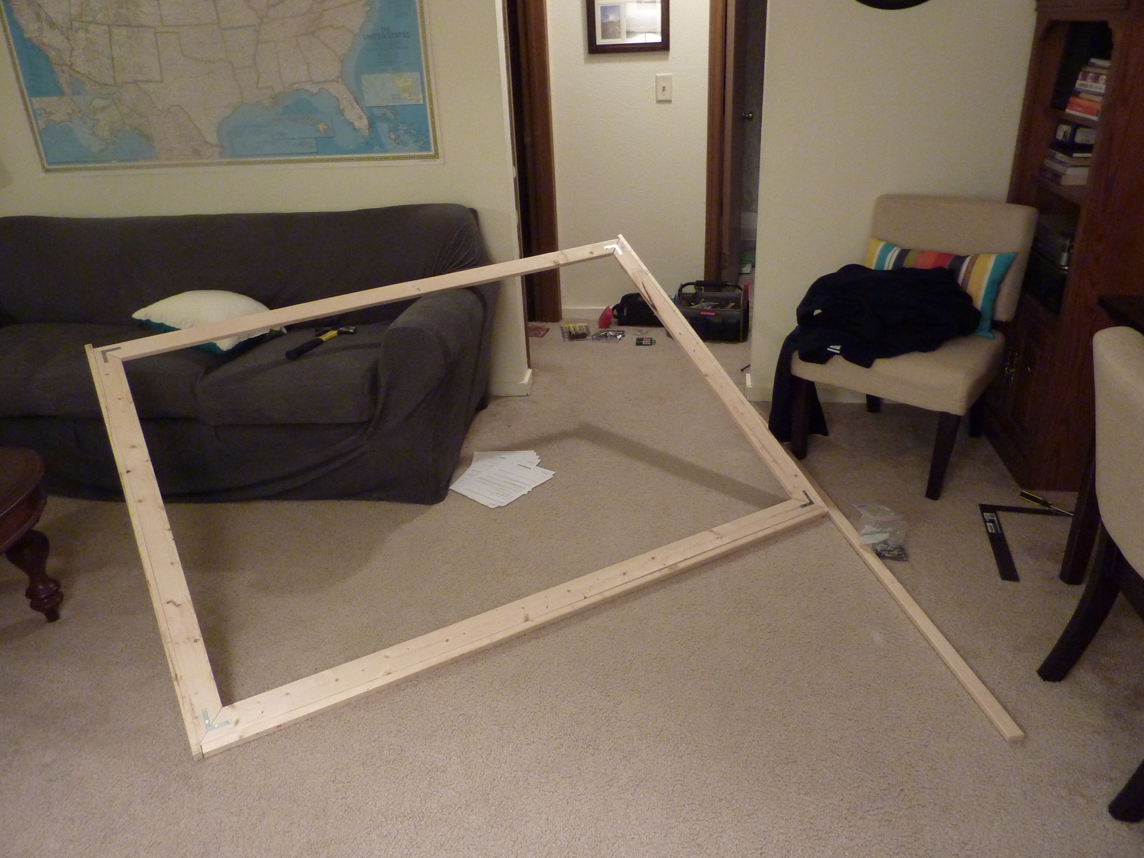 build a wood frame