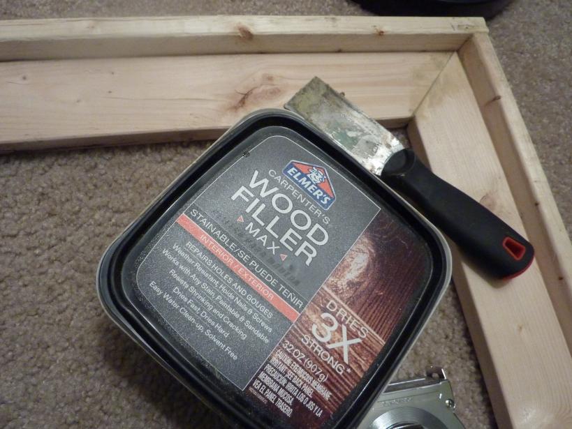 elmer's wood filler to fix gaps