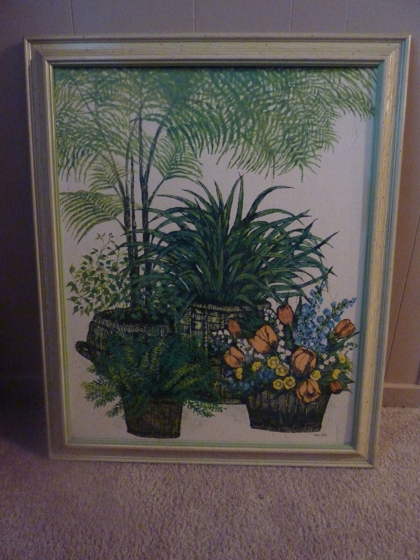 transform old thrift store artwork