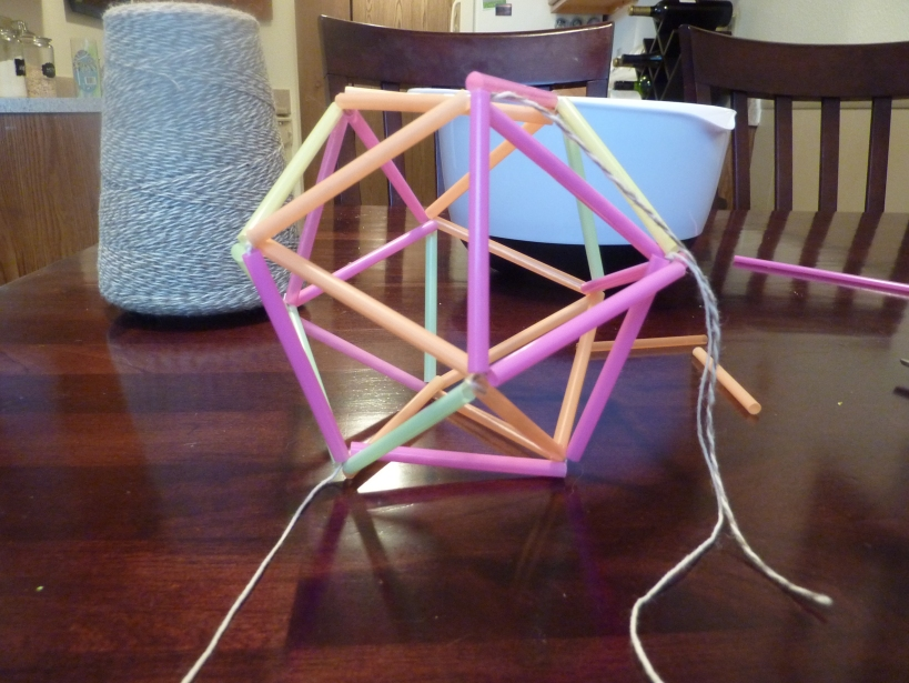 inner dome of star using string and straws