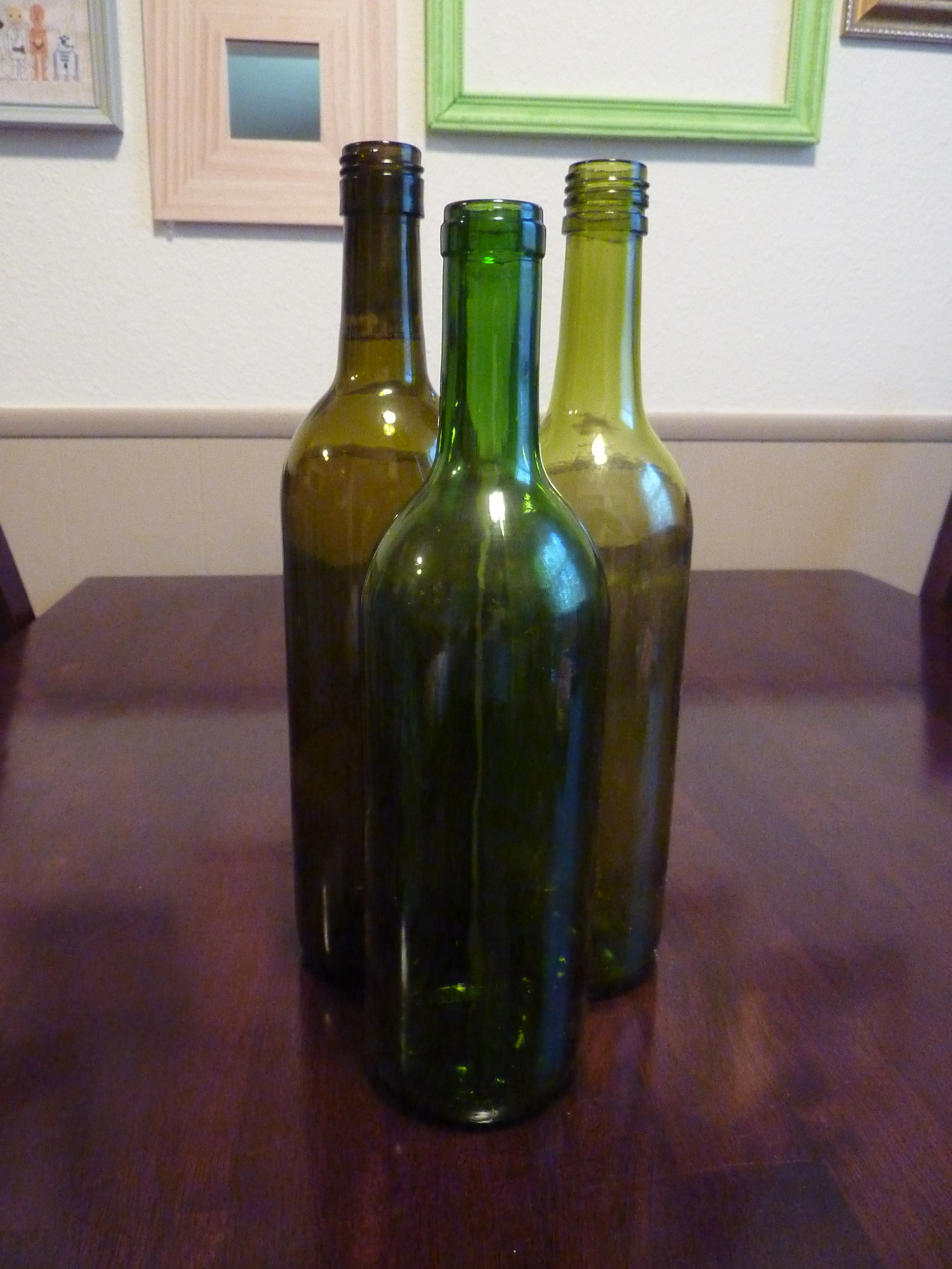 take the labels off wine bottles