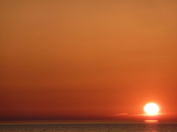 Lake MI Sunset April 27