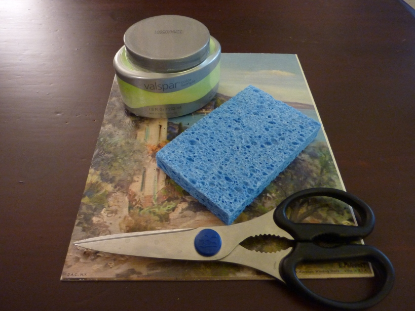 supplies for sponge painting