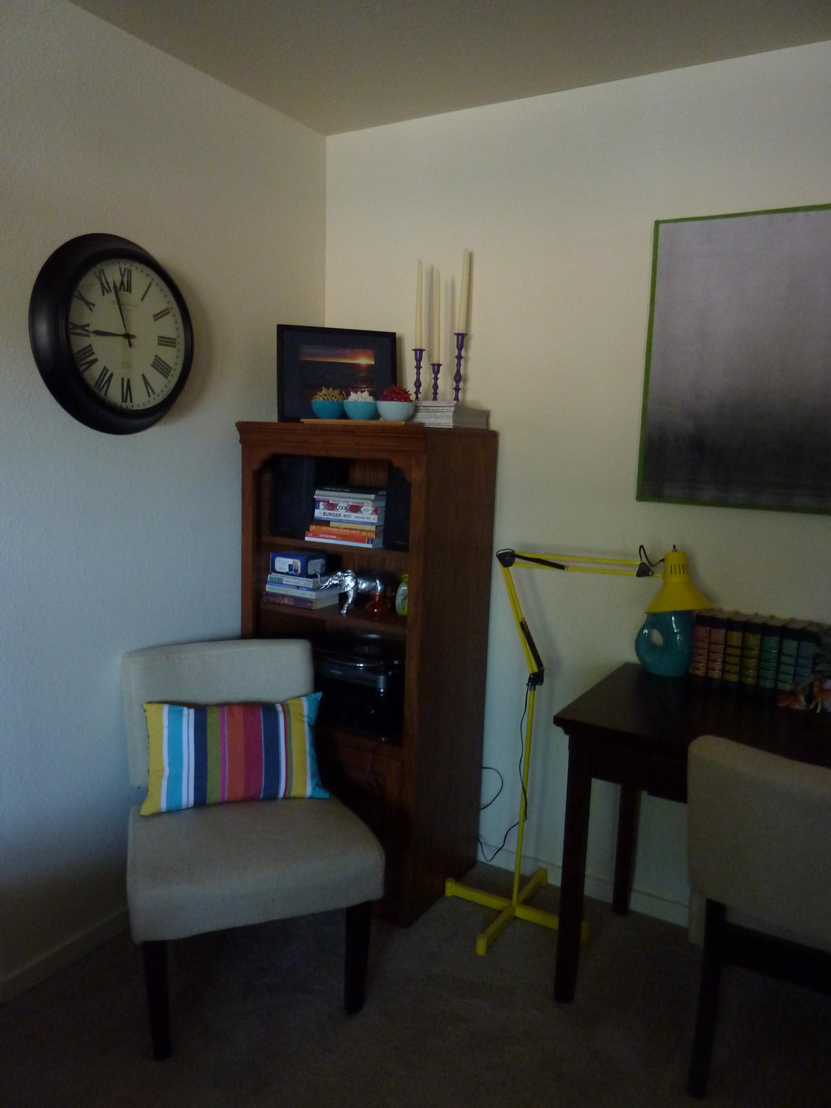 living room reading nook