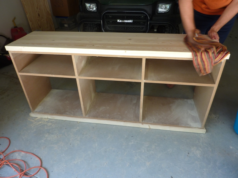 projects wood tv stand
