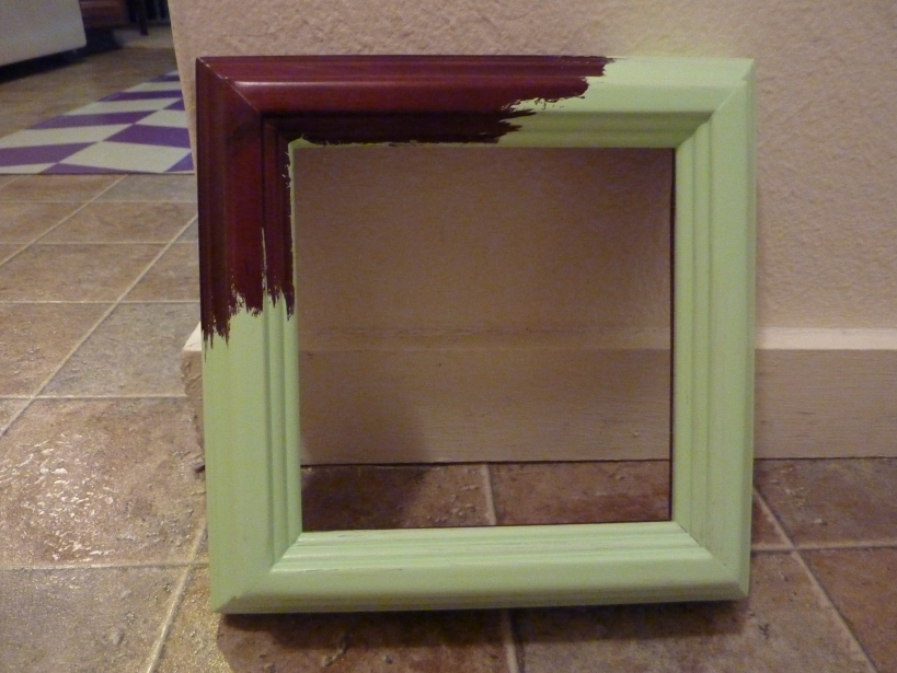 half-painted clock frame