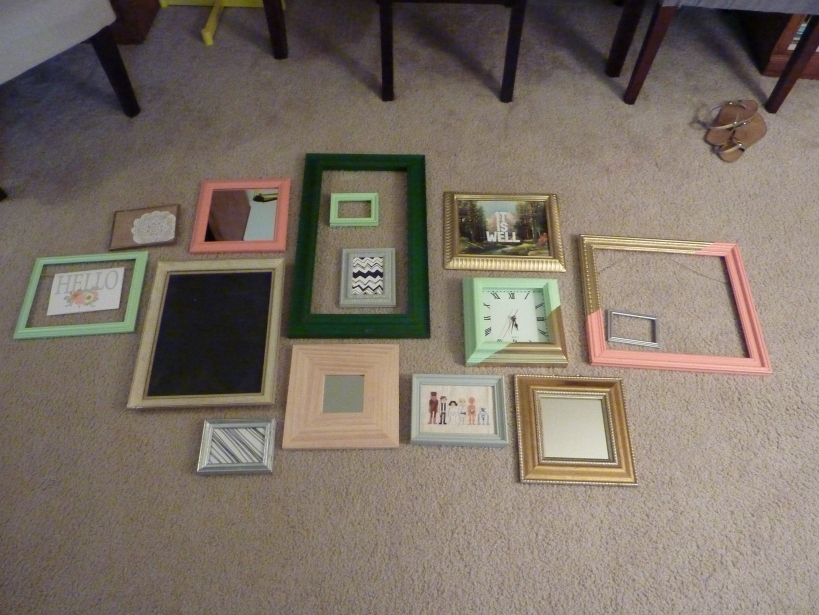 Lay out a gallery wall on the floor to plan.