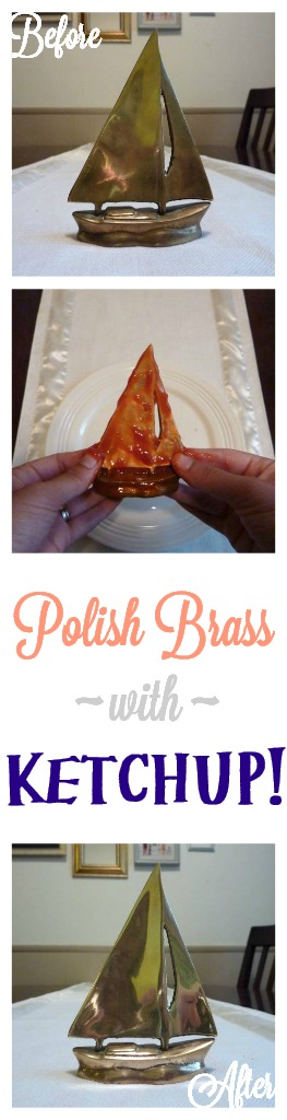 Polish brass with ketchup!