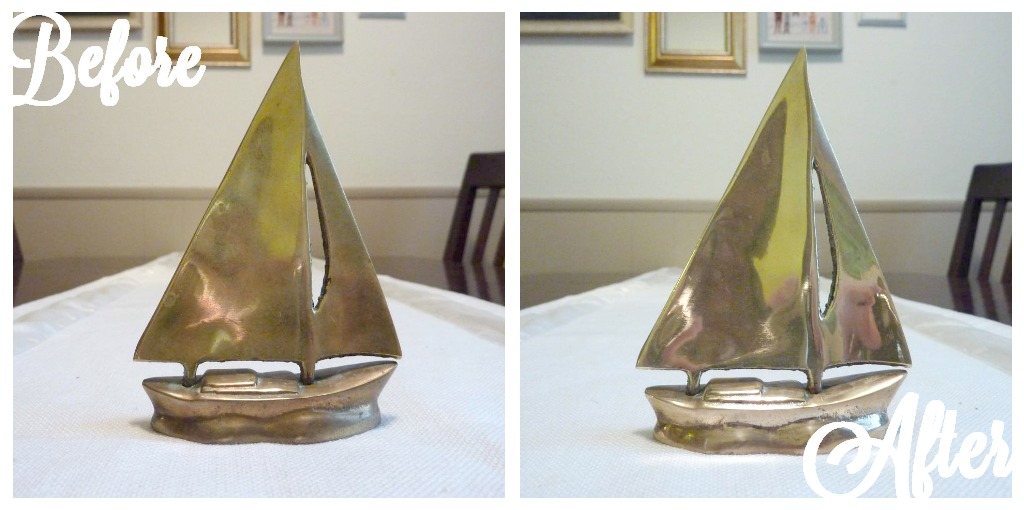 Before and After Polish Brass with Ketchup