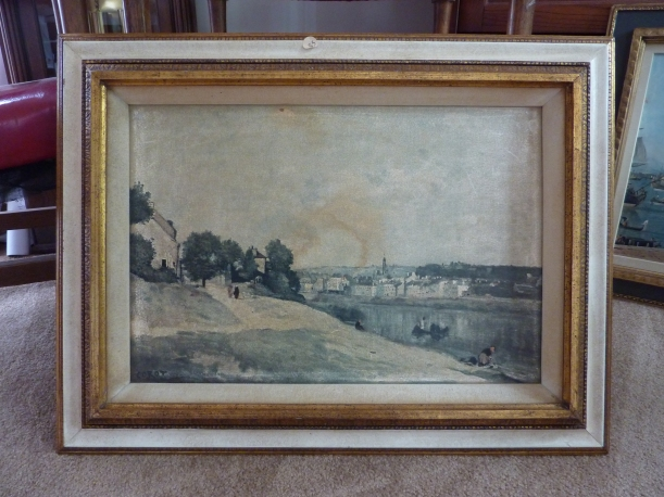 old artwork in antique frame