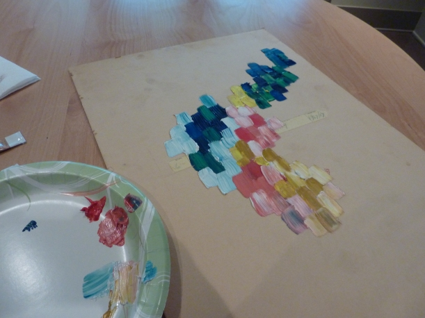 using oil paints