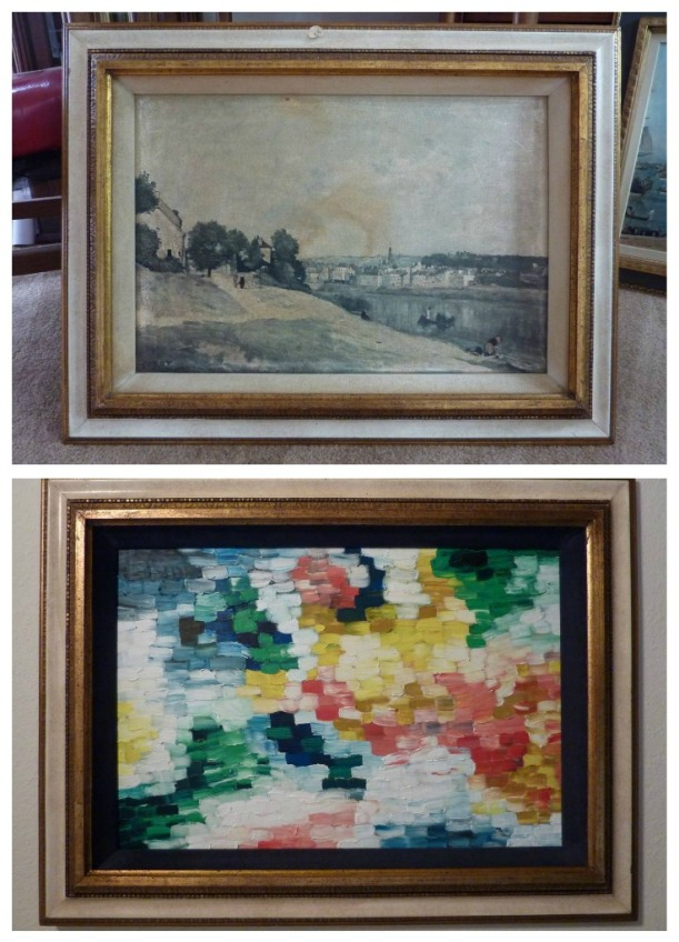 Transform old thrift store art!